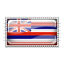 Hawaii Flag Stamp Icon