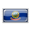 Idaho Flag Stamp Icon