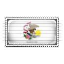 Illinois Flag Stamp Icon