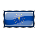 Indiana Flag Stamp Icon