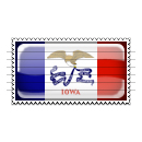 Iowa Flag Stamp Icon