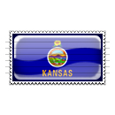 Kansas Flag Stamp Icon