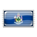 Maine Flag Stamp Icon