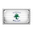 Maine Merchant and Marine Flag Stamp Icon