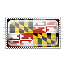 Maryland Flag Stamp Icon