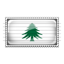 Massachusetts Naval and Maritime Flag Stamp Icon