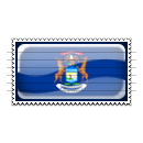 Michigan Flag Stamp Icon