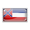 Mississippi Flag Stamp Icon