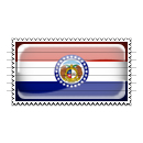 Missouri Flag Stamp Icon