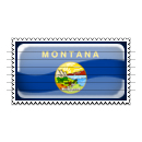 Montana Flag Stamp Icon