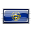 Nebraska Flag Stamp Icon