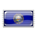 New Hampshire Flag Stamp Icon