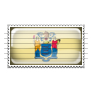 New Jersey Flag Stamp Icon