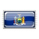 New York Flag Stamp Icon