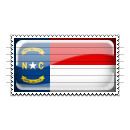 North Carolina Flag Stamp Icon