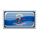 North Dakota Flag Stamp Icon