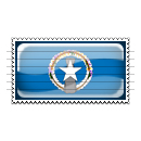 Northern Mariana Islands Flag Stamp Icon