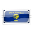 Oregon Flag Stamp Icon