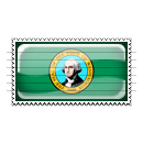 Washington Flag Stamp Icon