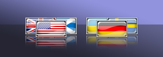 Country Flag Stamp Icons