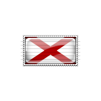 Alabama Flag Stamp Icon