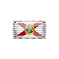 Florida Flag Stamp Icon