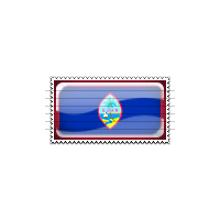 Guam Flag Stamp Icon